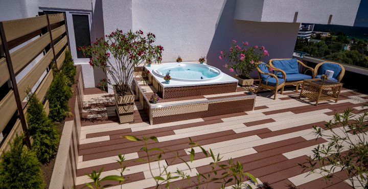 Cazare all inclusive Cap Aurora - apartament junior cu jacuzzi - terasa privata
