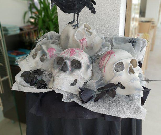 decoratiuni de halloween la mera brise hotel in mangalia