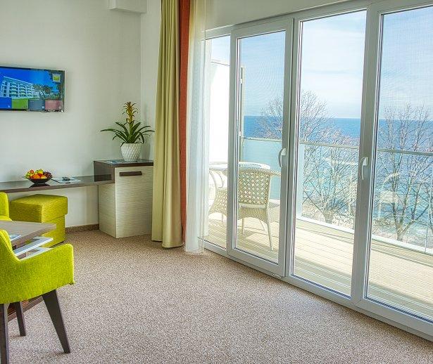 apartament cu vedere spre mare la plaja