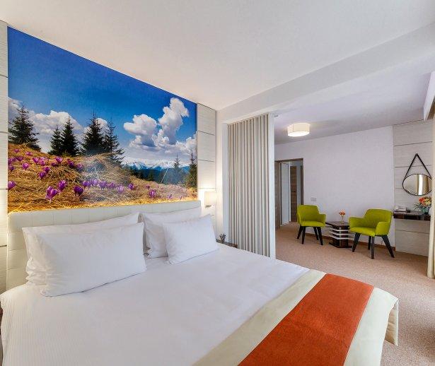 Cazare in Mangalia pe litoralul romanesc - apartament - vedere dormitor